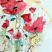 Ismeta Gruenwald Metal Prints - Poppies 05 Metal Print by Ismeta Gruenwald