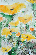 Ismeta Painting Prints - Poppies 07 Print by Ismeta Gruenwald