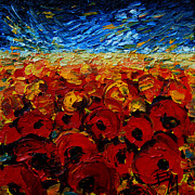 Poppies Field Paintings - Poppies 2 by EMONA Art