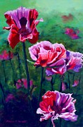 Red Poppies Pastels - Poppies 2 by Marion Derrett