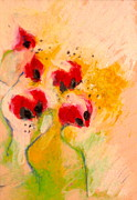 Poppies Field Paintings - Poppies 2 by Moshe BenReuven