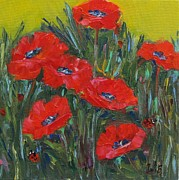 Poppies Field Paintings - Poppies And The Ladies by Irit Bourla