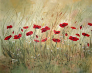 Life Posters Originals - Poppies and Wild Flowers by Dorothy Maier