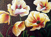 Anke Wheeler Paintings - Poppies by Anke Wheeler