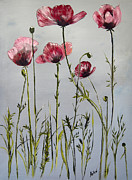 Poppies Print by Arlen Avernian Thorensen