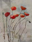 Poppies Artwork Paintings - Poppies Art by Lutz Baar