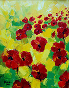 Chromatic Painting Prints - Poppies I Print by EMONA Art