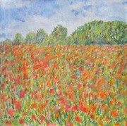 Crop Framed Prints - Poppies in a Field in Afganistan Framed Print by Glenda Crigger