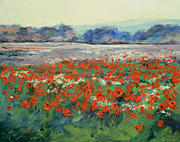 Impasto Oil Paintings - Poppies in Flanders Fields by Michael Creese