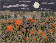 Moonlight Tapestries - Textiles - Poppies In The Moonlight by Jan Schlieper