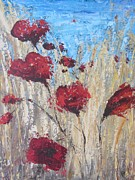 Poppies Field Paintings - Poppies by Jenny Forsman
