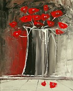 Red Cat Wine Prints - Poppies  Print by Atelier De  Jiel