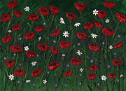 Poppies Field Paintings - Poppies by Marilyn Ferguson