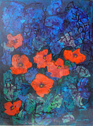 Mini Arora Posters Mixed Media - Poppies by Mini Arora
