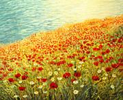 Kiril Stanchev Posters - Poppies of Kaliakra II Poster by Kiril Stanchev