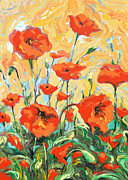 Dmitry Spiros - Poppies on a yellow