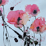 Ismeta Gruenwald Metal Prints - Poppies- painting Metal Print by Ismeta Gruenwald
