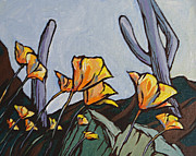 Bloom Painting Originals - Poppies by Sandy Tracey