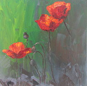 Susan Richardson Paintings - Poppies3 by Susan Richardson