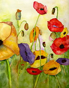 Watercolors Photo Originals - Poppin Poppies 1 by Teresa Tilley