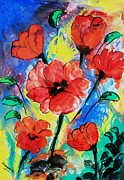 Kasana Paintings - Poppy blossom by Shakhenabat Kasana