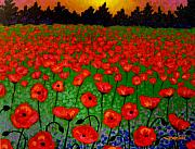 Metal Art Print Framed Prints - Poppy Carpet  Framed Print by John  Nolan