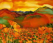 Azalea Bush Paintings - Poppy Dawn by Wendy Wilkins