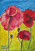 Poppies Field Paintings - Poppy Family by Jaime Haney