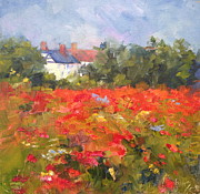 Daily Painter Prints - Poppy Field Print by Carol Hopper