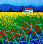 Ireland Painting Posters - Poppy Field France Poster by John  Nolan