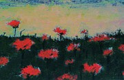 Poppies Field Paintings - Poppy Field by Jacqueline McReynolds