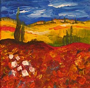 Poppies Field Paintings - Poppy Field by Jasmin Nelson-Baldwin