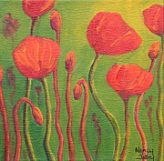Nancy Jolley Art - Poppy Field by Nancy Jolley