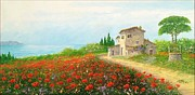 Sicily Paintings - Poppy hill by Luciano Torsi