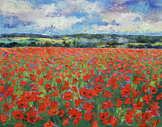Poppy Field Paintings - Poppy Painting by Michael Creese
