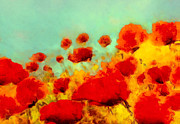 Kelly Digital Art Posters - Poppy time Poster by Valerie Anne Kelly