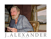 Old Man Digital Art Originals - Pops at Ira Lane by Jeff Alexander