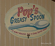 Greasy Spoon Prints - Pops Print by Kathy Barney