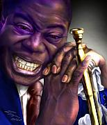 Trumpet Paintings - Pops by Reggie Duffie