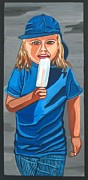 Innocent People Painting Prints - Popsicle Print by Sandra Marie Adams