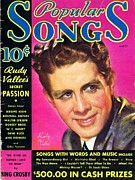 Crooner Photos - Popular Songs Rudy Vallee by Mel Thompson