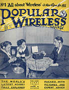 Covers Drawings Prints - Popular Wireless 1922 1920s Uk First Print by The Advertising Archives