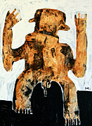 Outsider Art Painting Prints - Populus No. 3 Print by Mark M  Mellon