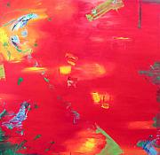Large Canvas  For Sale Paintings - Por do sol by Amalia Couto
