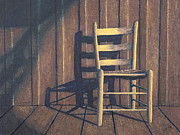 Wooden Pastels - Porch Chair by Garry McMichael