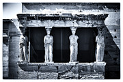 Ancient Greek Ruins Posters - Porch of the Caryatids Poster by John Rizzuto