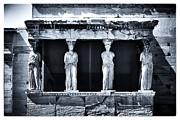 Porch Of The Caryatids Print by John Rizzuto