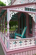 Rocking Chairs Framed Prints - Porch Rockers Framed Print by Allan Morrison