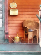 Mail Box Prints - Porch With Brass Watering Can Print by Susan Savad
