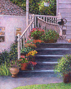 Can Art - Porch with Watering Cans by Susan Savad